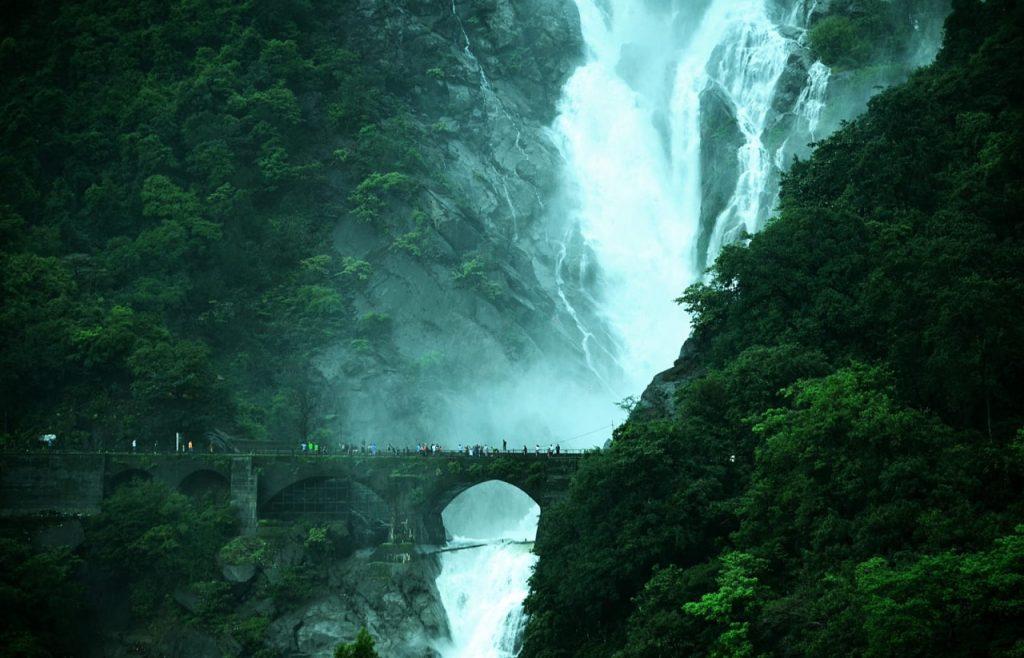 Dudhsagar falls view point