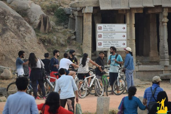 bicycle ride is one of the fun things to do in Hampi