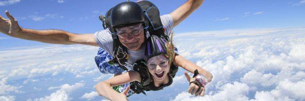 skydiving feels like floating