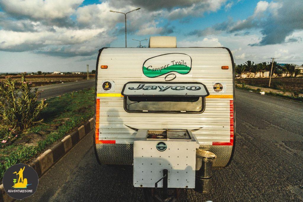 frontview of the caravan