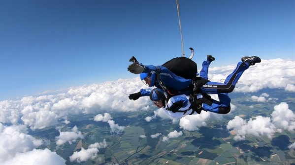 skydiving makes you feel invincible