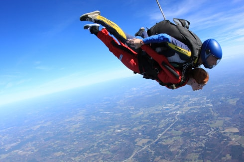 skydiving makes you refreshed
