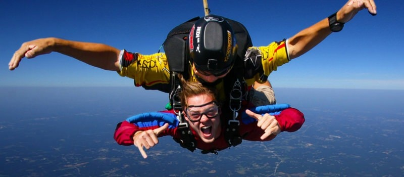feeling of skydiving