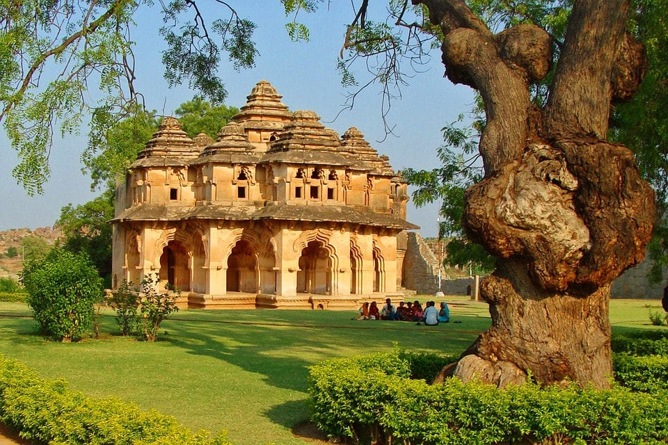 Lotus Mahal is a beautiful tourist place in Hampi