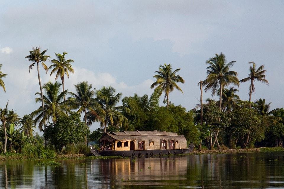 Boat ride in Kerala backwaters