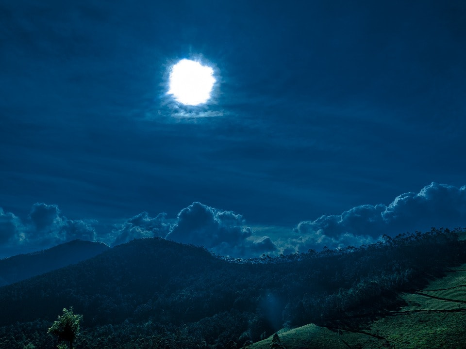 Night view in kerala hill station