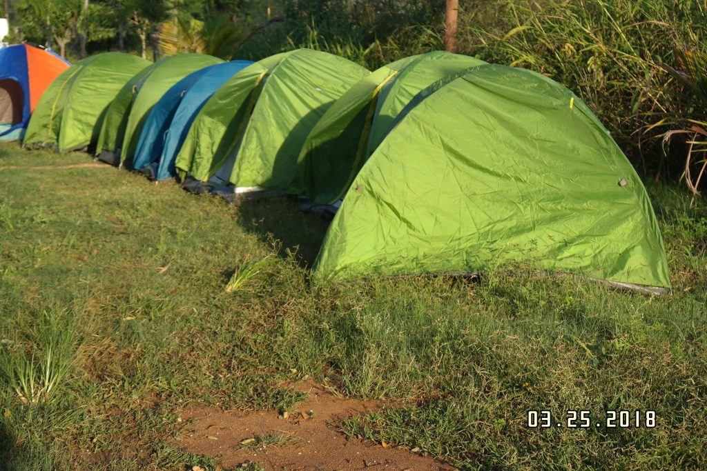 Self Pitched tents