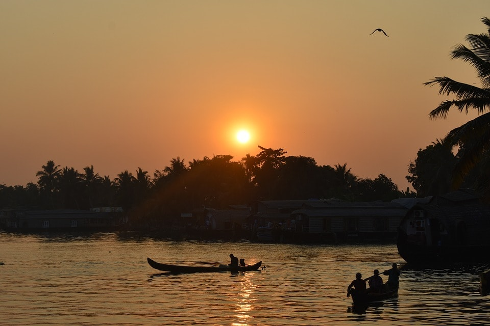 Sunset in Alleppey