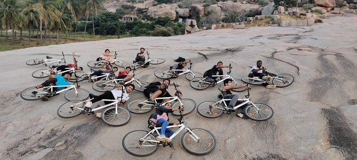 Cycling during Hampi trip