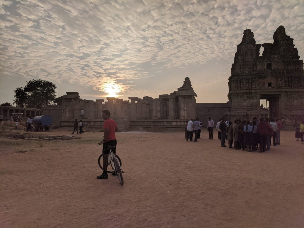 Sunset during the Hampi trip