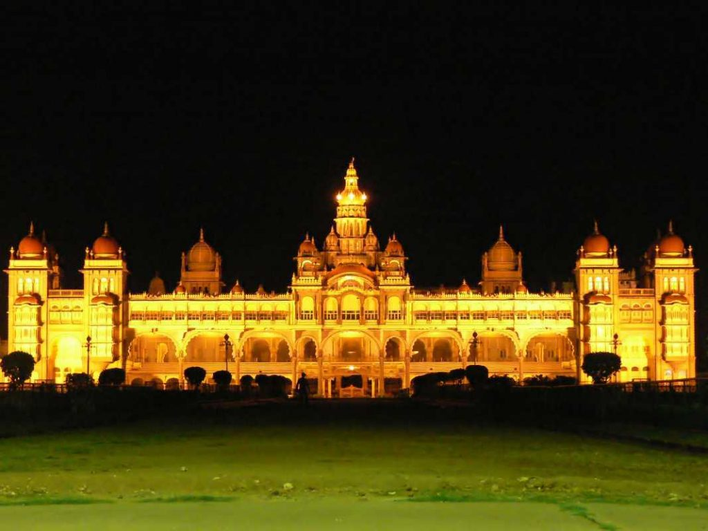 Mysore palace is one the best places to visit in Mysore