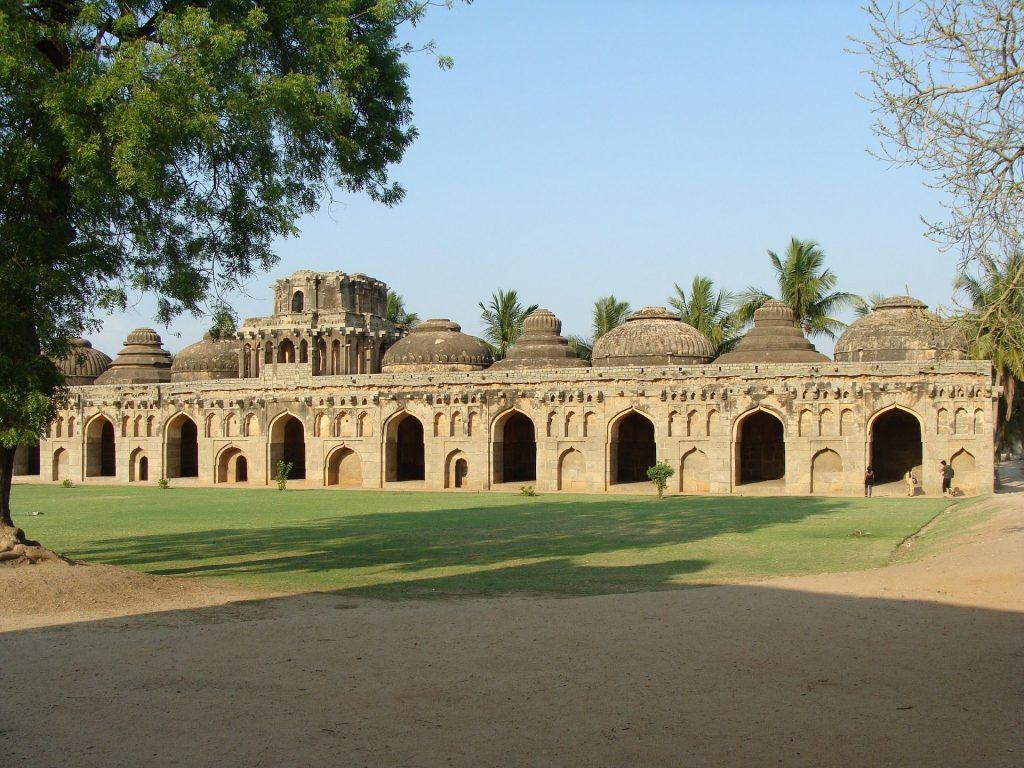 Elephant stables in Hampi is one of the most incredible places to visit in India
