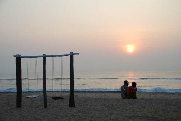 sunset at pondicherry